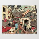 Disaster Scene Canvas Print