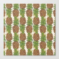 PINA COLADA: Pineapple Canvas Print