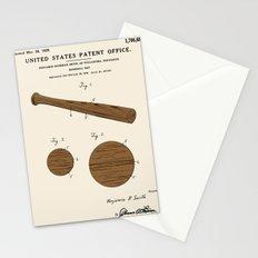 Baseball Bat Patent Stationery Cards