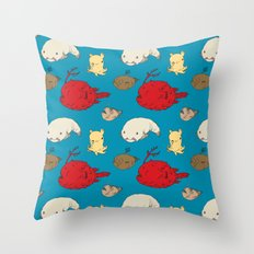 Creatures of the Deep Throw Pillow