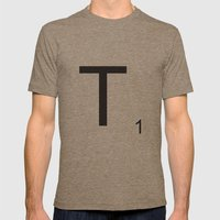 Scrabble T Mens Fitted Tee Tri-Coffee SMALL