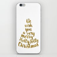 Holly Jolly Christmas iPhone & iPod Skin
