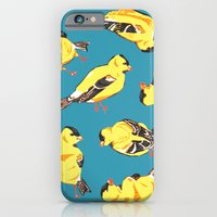 iPhone & iPod Case featuring Goldfinches by Emily Rickard