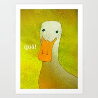 White Duck! Art Print