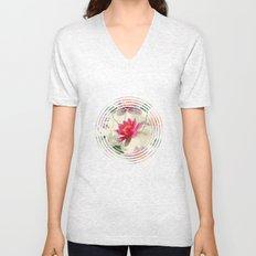 Lotus Flower Pattern Unisex V-Neck