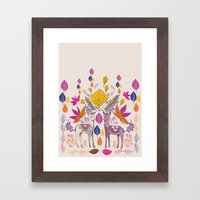 Fall in Love with Fawns Framed Art Print