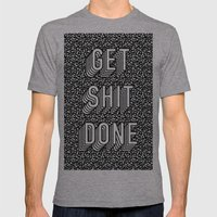 Get Shit Done Memphis Static Mens Fitted Tee Athletic Grey SMALL