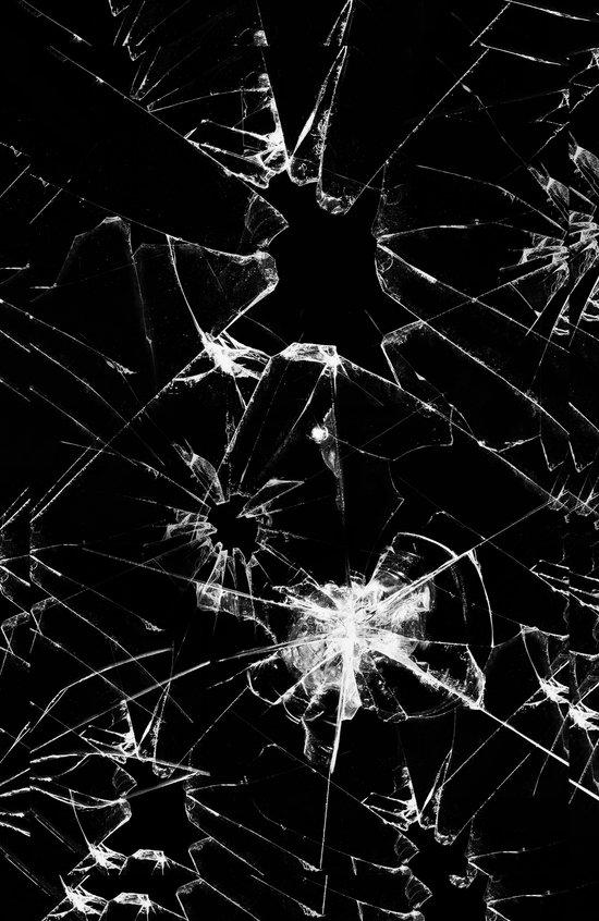 Shatterd+black Art Print