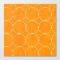 Rings Yellow Canvas Print