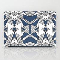 Triangle Tribal #2 Navy iPad Case
