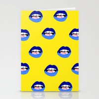 Blue Lips Stationery Cards