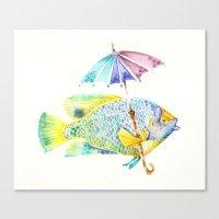 Fishy Fish - Original Wa… Canvas Print