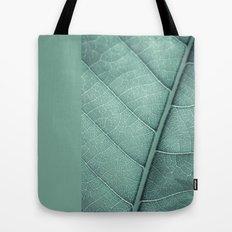 Sage Green Closeup Leaf Tote Bag