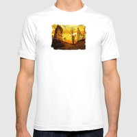 Golden Nature Mens Fitted Tee White SMALL