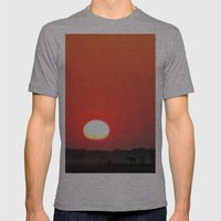 Sunrise Mens Fitted Tee Athletic Grey SMALL