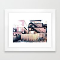 Parking 2 Framed Art Print