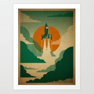 The Voyage (Green) Art Print