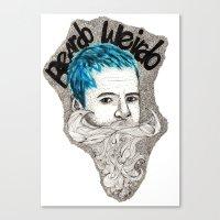 Beardo Wierdo Canvas Print