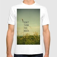 Travel Like A Bird Witho… Mens Fitted Tee White SMALL