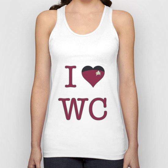I Heart Wesley Crusher Unisex Tank Top