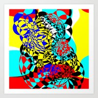 Color Bomb  Art Print