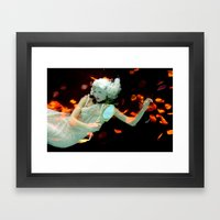 Girl Floating Framed Art Print