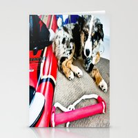 Wake Boarding Pup Stationery Cards