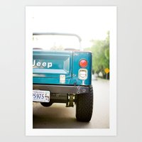 Jeep Scrambler Summer Art Print