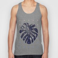 Monstera + Dots Unisex Tank Top