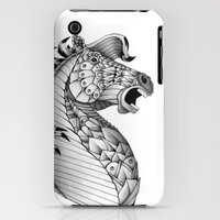 iPhone 3Gs & iPhone 3G Cases featuring Ornate Horse by Adrian Dominguez