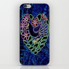 Gothic Bird in Heart iPhone & iPod Skin