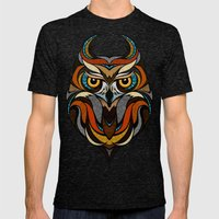 Oldschool Owl Mens Fitted Tee Tri-Black SMALL