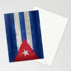 Flag of Cuba - vintage retro version Stationery Cards