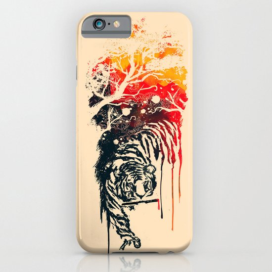 Painted Tiger iPhone & iPod Case