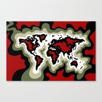 Map Of The World, Classi… Canvas Print