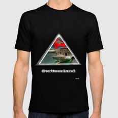 switzson Mens Fitted Tee SMALL Black