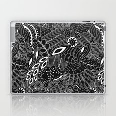 Black & White Floral Pattern Laptop & iPad Skin