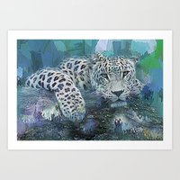 Leopard Abstract Art Print