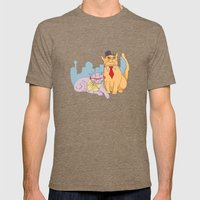 Calgary Cats Mens Fitted Tee Tri-Coffee SMALL