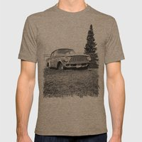 Rusty Rambler Mens Fitted Tee Tri-Coffee SMALL
