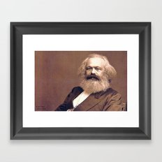 Portrait of Karl Marx by John Jabez Edwin Mayal Framed Art Print