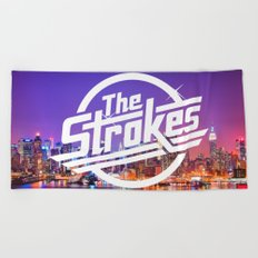 The Strokes Logo New York Night Beach Towel