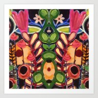 Mirrored Garden Art Print