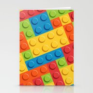 Colored Cubes Stationery Cards