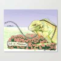 We're Chained Canvas Print