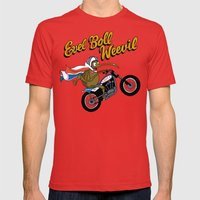 Evel Boll Weevil Mens Fitted Tee Red SMALL