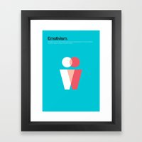 Emotivism Framed Art Print