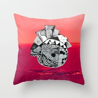 Orb in sea Throw Pillow