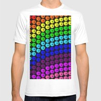 Chase The Rainbow Mens Fitted Tee White SMALL