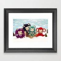 Bitsy Toy Christmas Framed Art Print